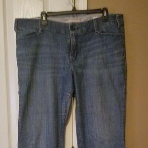Gap curvy denim wide leg trousers.